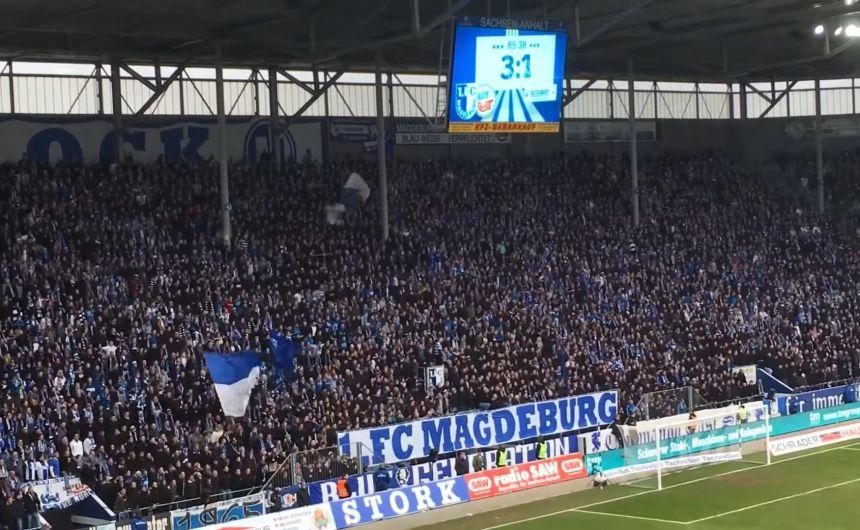 Nakon gotovo tri godine Magdeburgovi navijači vraćaju se na svoju tribinu. Priča je zanimljiva